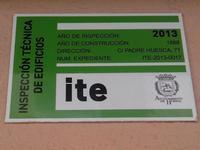 ITE. Publicitat dels edificis que han passat el ITE a Osca (Huesca)