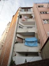 Façana posterior i baixants al Passatge de Toledo, nº 13-15 (Barcelona)